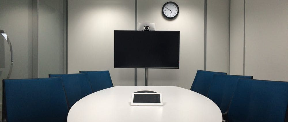 Videoconferencing in vergaderkamer