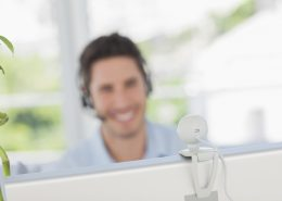 videoconferencing webcam man smiling